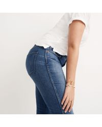 "Madewell - Blue 9"" High-rise Skinny Jeans In Allegra Wash: Rip And Repair Edition - Lyst"