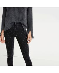 """Madewell - Multicolor Tall 9"""" High-rise Skinny Jeans: Metallic Dot Edition - Lyst"""