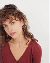 Madewell - Metallic Encircle Hoop Earrings - Lyst