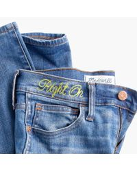 "Madewell | Blue Taller 8"" Skinny Jeans In Quincy Wash 