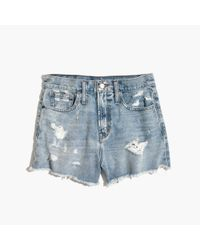 Madewell | Blue The Perfect Jean Short In Langdon Wash | Lyst