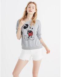 Madewell - Gray X Mickey Mouse New York Sweatshirt - Lyst