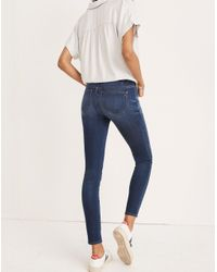 Madewell - Blue Maternity Over-the-belly Skinny Jeans In Danny Wash: Edition - Lyst