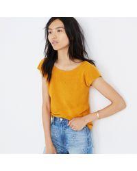 Madewell - Orange Marin Sweater Tee - Lyst