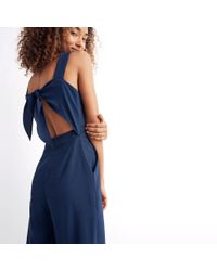 Madewell - Blue Apron Bow-back Jumpsuit - Lyst
