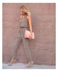 Isabel Benenato - Four-pocket Soil Brown Jumpsuit - Lyst