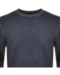 Ted Baker - Gray Crew Neck Abelone Jumper Grey for Men - Lyst
