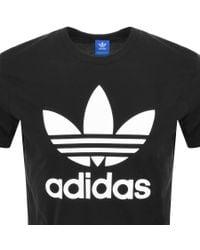 Adidas - Black Original Trefoil T-shirt for Men - Lyst