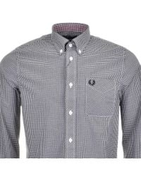 Fred Perry - Black Classic Gingham Shirt for Men - Lyst