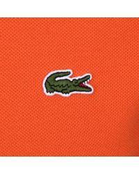 Lacoste - Polo T Shirt Orange for Men - Lyst