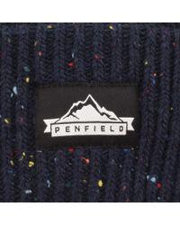 Penfield - Blue Harris Beanie Hat Navy for Men - Lyst