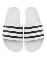 new arrival 6cb0e 266d8 Men s Originals Adilette Sliders White