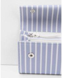 MM6 by Maison Martin Margiela - Purple Stripe Cotton Wallet - Lyst