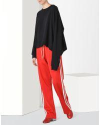 MM6 by Maison Martin Margiela - Black Asymmetric Sweatshirt - Lyst