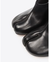 Maison Margiela - Black Calfskin Tabi Wedge Pumps - Lyst
