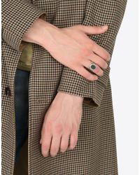 Maison Margiela - Metallic Engraved Silver Signet Ring for Men - Lyst