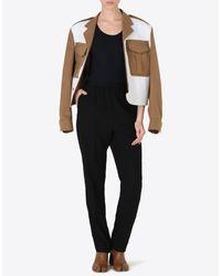 Maison Margiela - White Bonded Cotton Jacket With Cut-out Details - Lyst