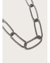 Violeta by Mango | Metallic Link Necklace | Lyst