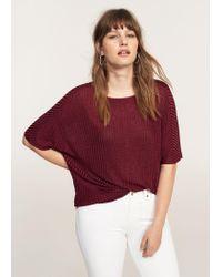 Violeta by Mango | Red Ribbed T-shirt | Lyst