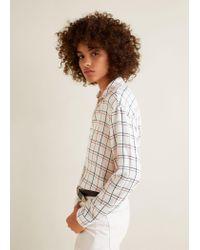 131007a65b383e Mango Check Flowy Shirt in Red - Lyst