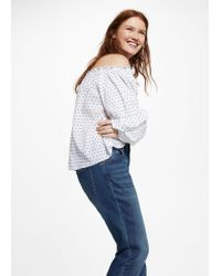 Violeta by Mango - Blue Comfy Relaxed Jeans - Lyst