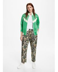Violeta by Mango - Green Contrasted Panels Jacket - Lyst