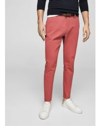 Mango - Red Trousers - Lyst