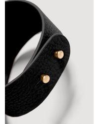 Mango | Black Metal Appliqué Bracelet | Lyst