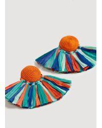 Mango - Orange Mixed Pendant Earrings - Lyst