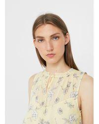 Mango - Yellow Flowy Ruffled Dress - Lyst