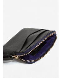 Mango - Black Leather Wallet - Lyst