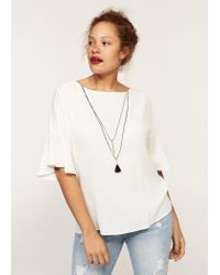 Violeta by Mango - White Necklace T-shirt - Lyst