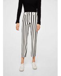 Mango - White Trousers - Lyst