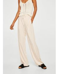 Mango - Natural Modal Trousers - Lyst