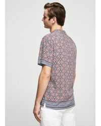 Mango - Gray Shirt - Lyst