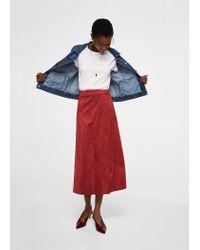Mango - Red Skirt - Lyst