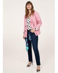 Violeta by Mango - Blue Slim-fit Susan Jeans - Lyst