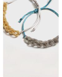 Violeta by Mango   Metallic Mixed Bracelet Set   Lyst