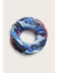 Violeta by Mango - Blue Multicolor Print Scarf - Lyst