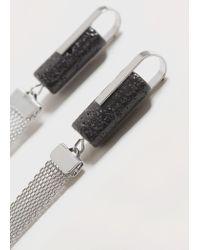 Violeta by Mango - Metallic Stone Pendant Earrings - Lyst