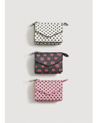 Mango - Pink Print Wallet - Lyst
