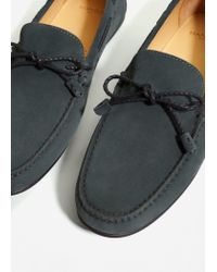 Mango - Green Suede Driving Shoes - Lyst