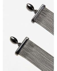 Mango - Metallic Slim Chain Earring - Lyst