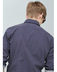 Mango | White Slim-fit Printed Shirt for Men | Lyst
