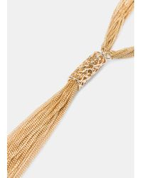 Violeta by Mango | Metallic Multiple Chain Necklace | Lyst
