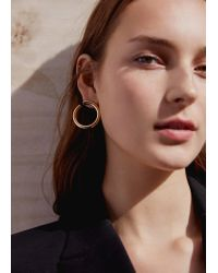 Mango - Metallic Hoop Earrings - Lyst