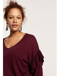 Violeta by Mango - Purple Sweater - Lyst