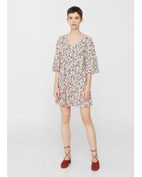 Mango - Multicolor V-neckline Dress - Lyst