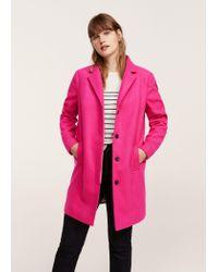 Violeta by Mango - Pink Lapels Structured Coat - Lyst