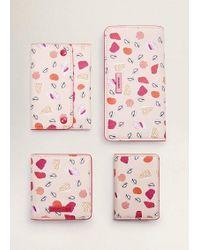 Mango Seashell Printed Wallet Pastel Pink